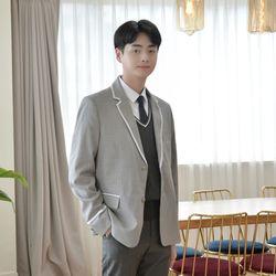 그레이 흰줄 라인 자켓(남자) 교복자켓
