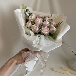 (3color) 장미10송이 로즈데이 졸업꽃다발 재롱잔치학예회발표회