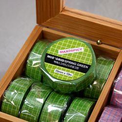 맥제스그리드 스프링그린(spring green) 마스킹테이프 15mm