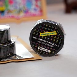 맥제스그리드 스프링블랙(spring black) 마스킹테이프 15mm