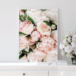 부케 모란 꽃 그림 액자 A2 포스터+알루미늄액자
