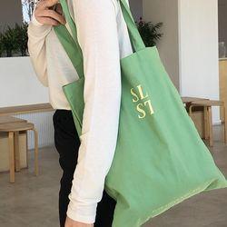 slowstitch simple logo bag ( green )