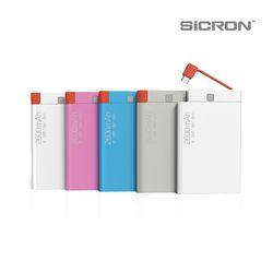 SICRON 5핀 케이블 일체형 슬림배터리 (2600mAh) BP-260