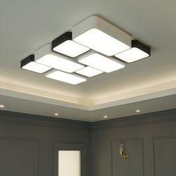 블럭 8등 색변환 국산 LED 거실등 150W