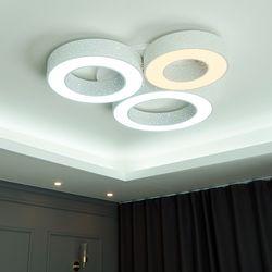 써클 3등 색변환 국산 LED 거실등 125W