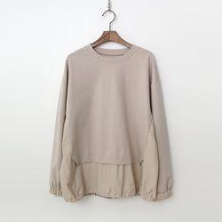 Banu Cotton Shirring Sweatshirt