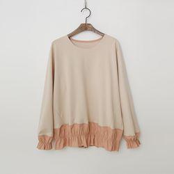 April Cotton Shirring Sweatshirt
