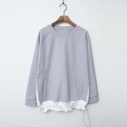 Combo Cotton Shirring Sweatshirt