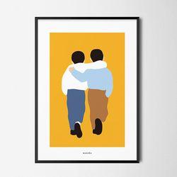 친구 M 유니크 인테리어 디자인 포스터 A3(중형)