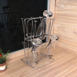 스텐 컵걸이 컵꽂이 정리대 컵건조대 2단 12P