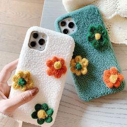 패브릭 꽃송이케이스(아이폰7플러스8플러스)