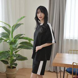 [GBM]절개 배색 반팔티(여자)