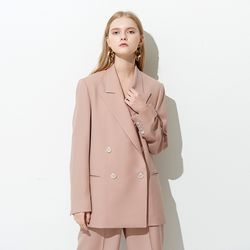 TAILORED DOUBLE JACKET PINK