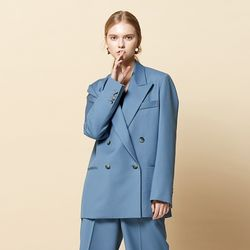 TAILORED DOUBLE JACKET BLUE