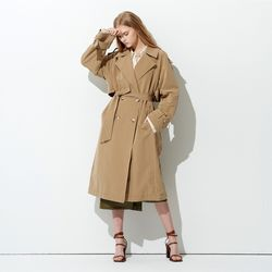 LIGHT NYLON COTTON TRENCH COAT BEIGE
