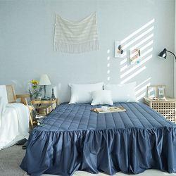 데일리즘 40수 트윌 줄누빔 침대프릴 스커트커버(Q)