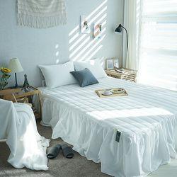 데일리즘 40수 트윌 줄누빔 침대프릴 스커트커버(K)
