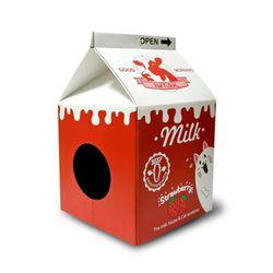 타비 밀크 하우스 스크레쳐 - 딸기우유 - s