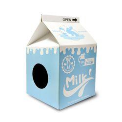 타비 밀크 하우스 스크레쳐 - 흰 우유 - s