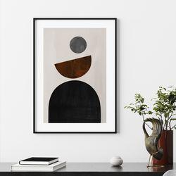 서클그레이 추상화 그림 액자 A3 포스터