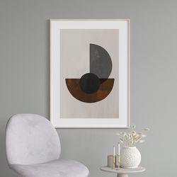 서클블랙 추상화 그림 액자 A3 포스터