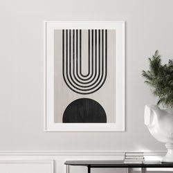 서클하프 추상화 그림 액자 A3 포스터