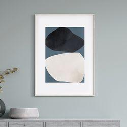 더블쉐입 추상화 그림 액자 A3 포스터