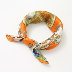Silk Courgette Square Petit Scarf - New