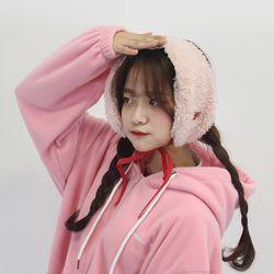 [체리콘] 보드라운 귀도리&목도리 - 핑크