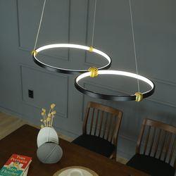 블랙써클 LED 국산 주방 식탁등 조명 40W