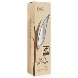 친환경 사탕수수 빨대(대) 일회용 50개입 개별포장