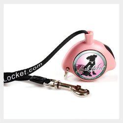 리쉬라켓 자동줄 중소형(핑크)  애견목줄애견산책줄