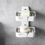 무타공 접착식 비누받침 비누케이스G-4 범프 비누트레이2단