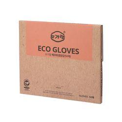 친환경 에코 위생장갑 50매 일회용 비닐장갑