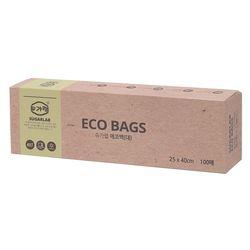 친환경 에코백 (대) 100매 25x40cm 일회용 위생봉투