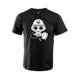 해저드4 스페셜 포스 가스 마스크 반팔 티셔츠 (블랙)