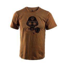 해저드4 스페셜 포스 가스 마스크 반팔 티셔츠 (코요테)