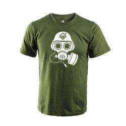 해저드4 스페셜 포스 가스 마스크 반팔 티셔츠 (OD)