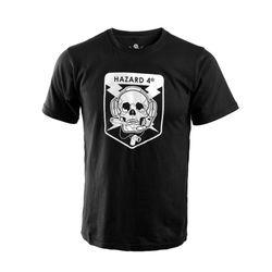[해저드4] 오퍼레이터 스컬 반팔 티셔츠 (블랙)