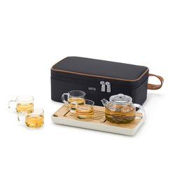 사마글라스 휴대용 티포트 티세트 (4인용) L006