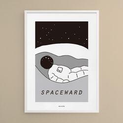 우주비행 M 유니크 인테리어 디자인 포스터 A3(중형)