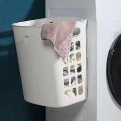 무타공 흡착식 플라스틱 세탁바구니I-1 걸이형 빨래바구니