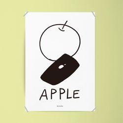 사과폰 M 유니크 인테리어 디자인 포스터 A3(중형)