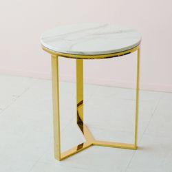 TS 에일린 원형 골드 테이블 M