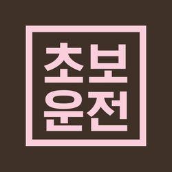 초보운전 스티커 LMCE-010 사각선 초보