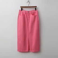 Sping Slit Denim Skirt