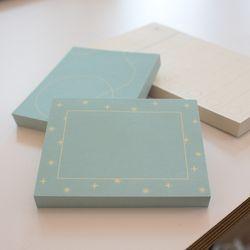 Starry-Square memo pad
