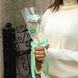 홀로그램 장미 꽃다발 한송이