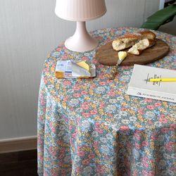 온더플라워샤워핑크 식탁보 테이블보 120x120cm 테이블러너