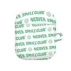 Smile club(emoticon)-white.green(airpods hard)